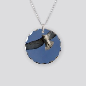 Juv Redtail Tile Necklace Circle Charm