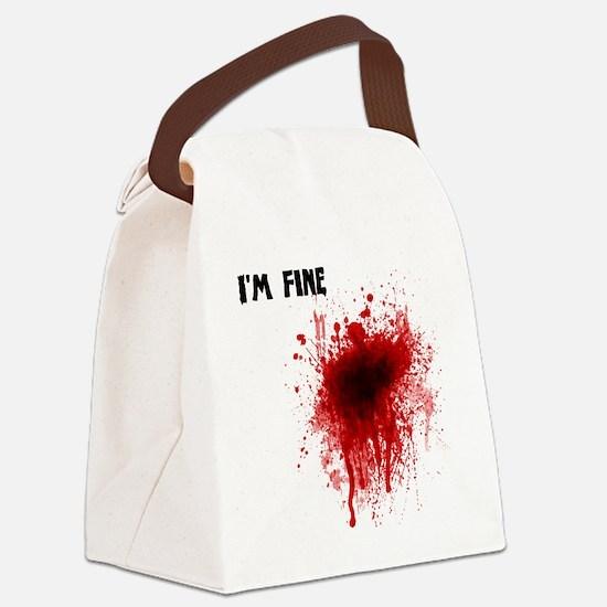 Im fine Canvas Lunch Bag