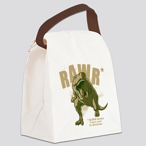Rawr-Dinosaur-drk Canvas Lunch Bag