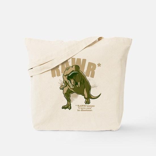 Rawr-Dinosaur-drk Tote Bag