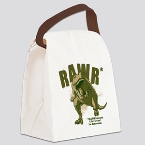 Rawr-Dinosaur Canvas Lunch Bag
