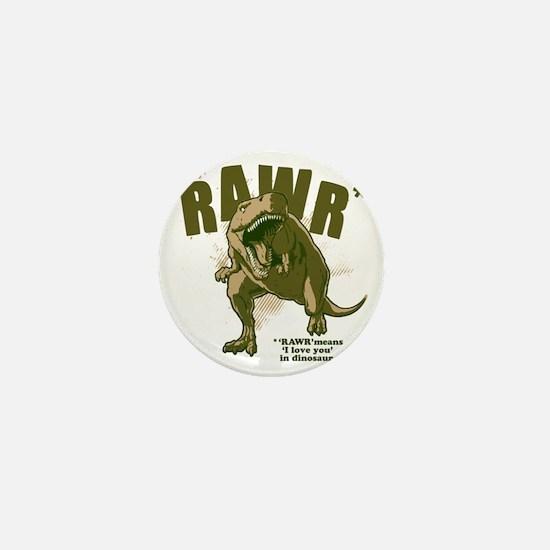 Rawr-Dinosaur Mini Button