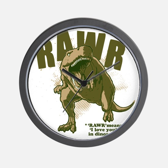 Rawr-Dinosaur Wall Clock