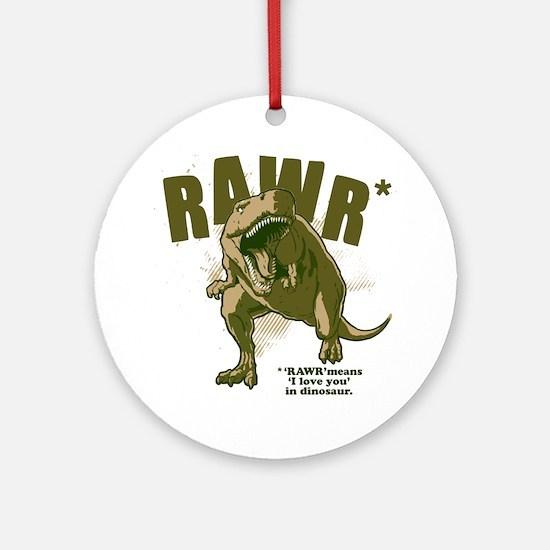 Rawr-Dinosaur Round Ornament