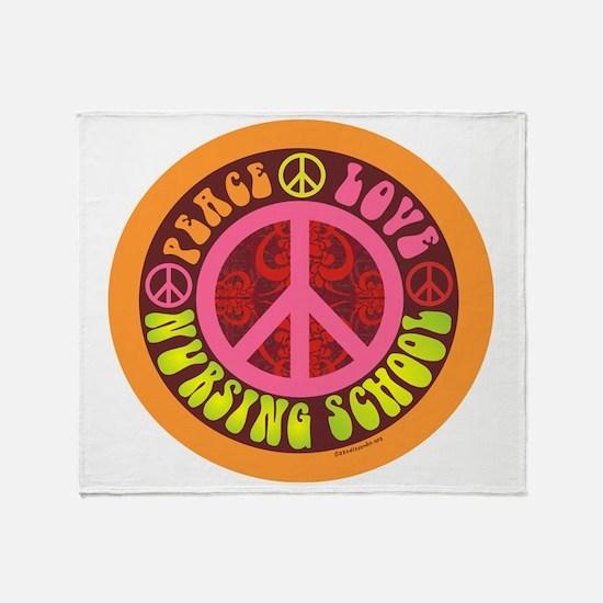 CP - peace love nursing school4 Throw Blanket