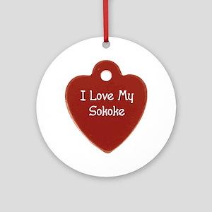 Love Sokoke Ornament (Round)