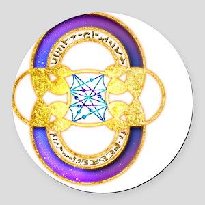 Pleiades Symbols Crop-Circle Round Car Magnet
