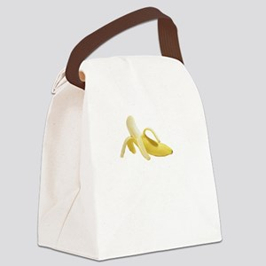 Eye Contact Banana White Canvas Lunch Bag