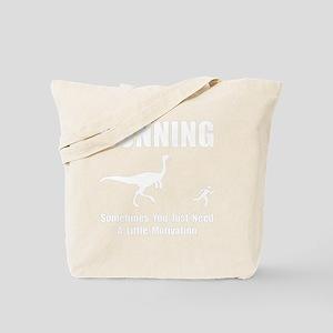 Running Motivation White Tote Bag