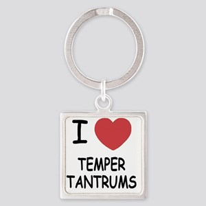 TEMPER_TANTRUMS Square Keychain