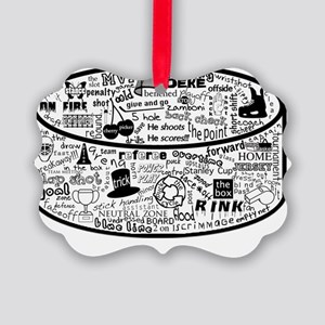 hockey collage Picture Ornament