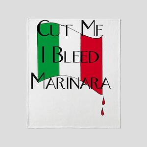 Italian Pride - I Bleed Marinara - F Throw Blanket