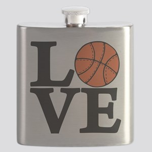 black, Basketball LOVE Flask