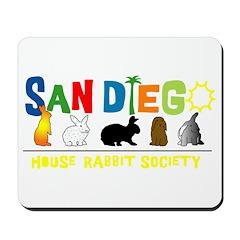 Yellow San Diego Rabbits Mousepad