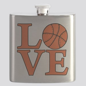 orange, Basketball LOVE Flask