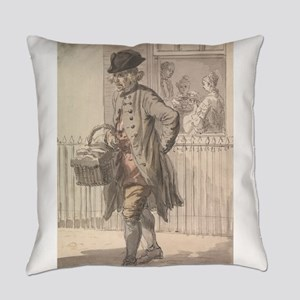 A Muffin Man - Paul Sandby - c1759 Everyday Pillow