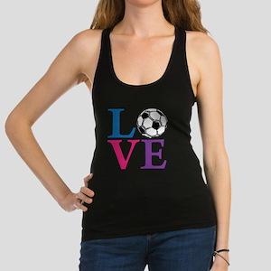 Multi, Soccer LOVE Racerback Tank Top