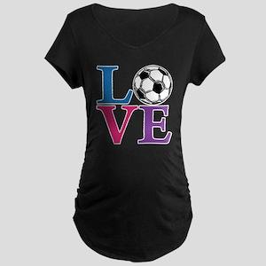 Multi2, Soccer LOVE Maternity Dark T-Shirt