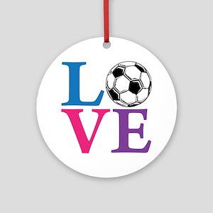 Multi2, Soccer LOVE Round Ornament