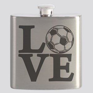 black, Soccer LOVE Flask