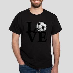 black, Soccer LOVE Dark T-Shirt