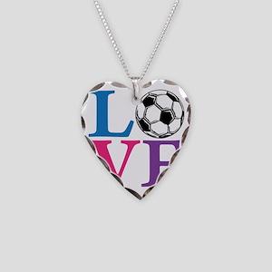 Multi2, Soccer LOVE Necklace Heart Charm