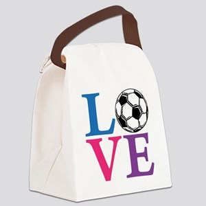 Multi2, Soccer LOVE Canvas Lunch Bag