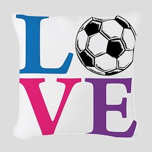Multi2, Soccer LOVE Woven Throw Pillow