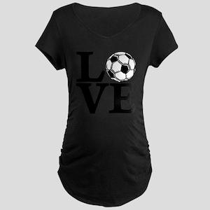 black, Soccer LOVE Maternity Dark T-Shirt