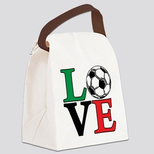 mexico, Soccer LOVE Canvas Lunch Bag