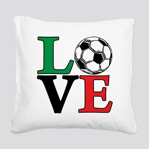 mexico, Soccer LOVE Square Canvas Pillow