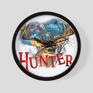 Hunter take your best shot Deer white t Wall Clock