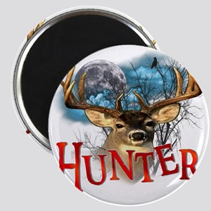 Hunter take your best shot Deer white text  Magnet
