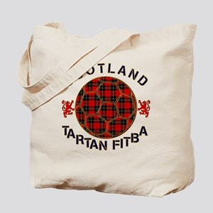 Tartan Football Scotland Red Tote Bag