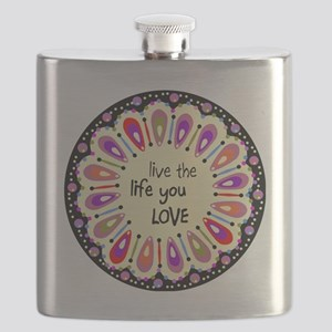 lIve the life you love Coaster Flask