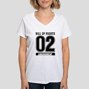 02 Team BW Women's V-Neck T-Shirt