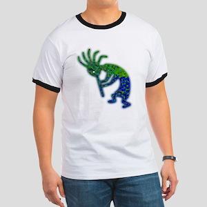 The Green Kokopelli Ringer T