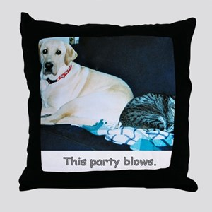 ThisPartyBlows Throw Pillow