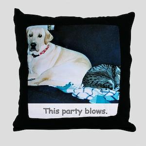 ThisPartyBlows Throw Pillow