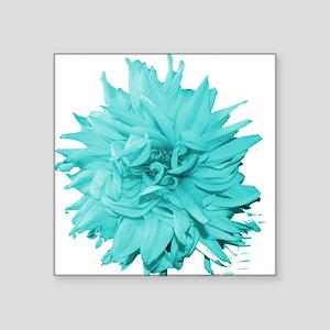 """Aqua Flower Square Sticker 3"""" x 3"""""""