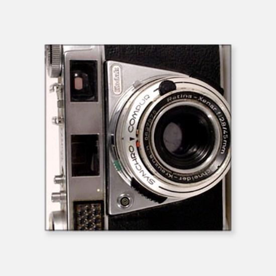 "45mm Camera Square Sticker 3"" x 3"""