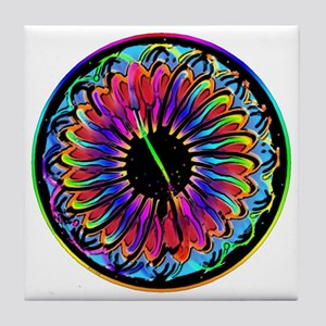 mandala_sumi Tile Coaster