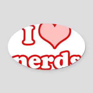 love_nerds Oval Car Magnet