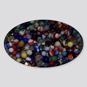 AlltheMarbles Sticker (Oval)