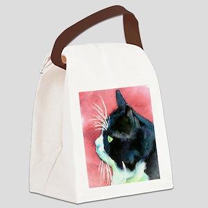 Tuxedo Cat Profile Canvas Lunch Bag