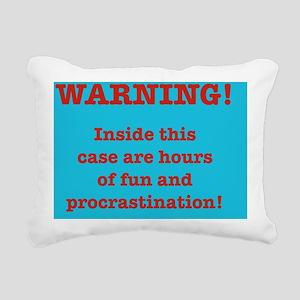 fun and procrastination Rectangular Canvas Pillow