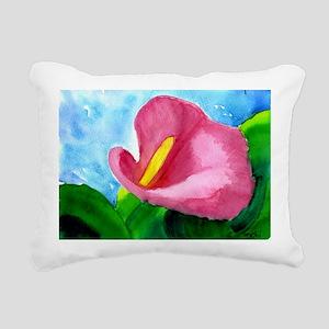 cala lilly Rectangular Canvas Pillow