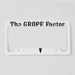The Grope factor License Plate Holder
