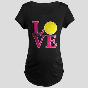 melon2, Tennis LOVE Maternity Dark T-Shirt