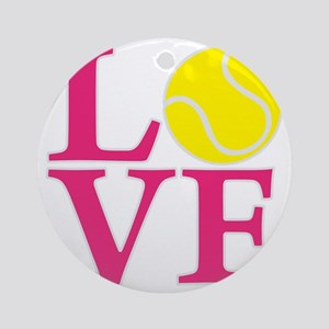 melon2, Tennis LOVE Round Ornament